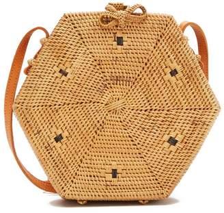 Pink Haley Ivory Hexagon Vacay Crossbody Bag