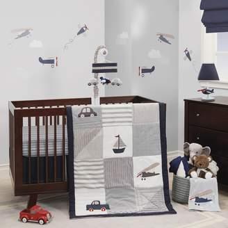 Lambs & Ivy 3-pc. Evan Airplanes, Cars, Sailboats & Trucks Crib Bedding Set