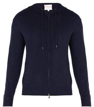 Derek Rose Finley Hooded Zip Through Cashmere Sweatshirt - Mens - Navy