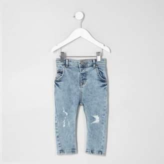River Island Mini boys light blue Tony slouch jeans