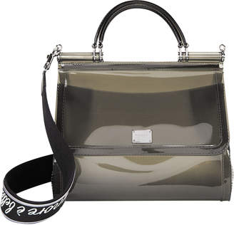 Dolce & Gabbana Sicily Grey Rubber Bag