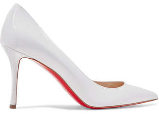 Christian Louboutin Decoltish 85 Patent-leather Pumps - White