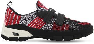 Prada Cross Section Knit Slip-On Sneakers