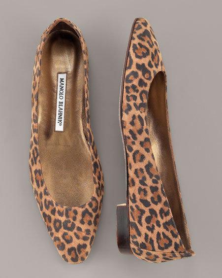 Manolo Blahnik Leopard Flat