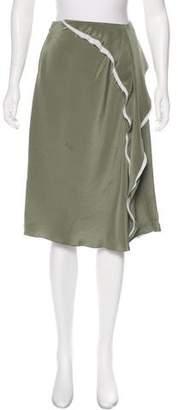 3.1 Phillip Lim Frayed Satin Skirt