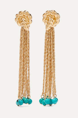 Aurelie Bidermann Palazzo Gold-plated Turquoise Earrings