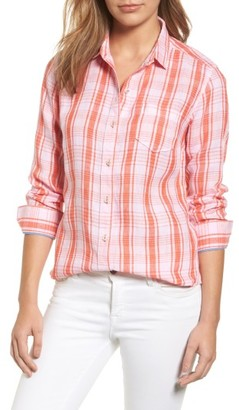 Women's Tommy Bahama Athena Plaid Linen Shirt $128 thestylecure.com
