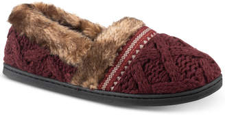 Isotoner Signature Trellis Tessa Sweater-Knit Slippers with Memory Foam