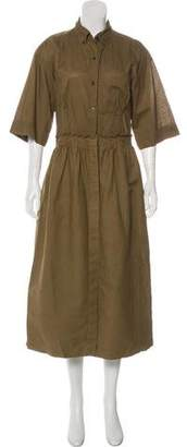 Dries Van Noten Short Sleeve Maxi Dress