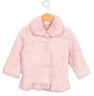 Adrienne Landau Girls' Fur Collared Jacket