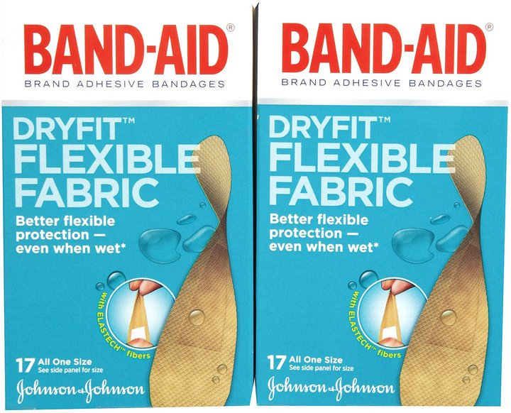 Safety First Band-Aid Dryfit Flexible Fabric Bandages - 34 ct