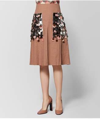 Bottega Veneta Dahlia Linen Skirt