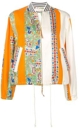 Tory Burch multicoloured bomber jacket