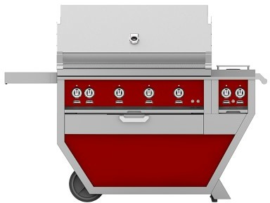 Hestan 60'' Grill with Double Side Burners