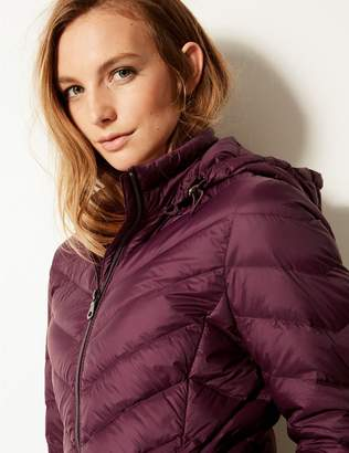 Marks and Spencer Lightweight Down & Feather Coat with Stormwear