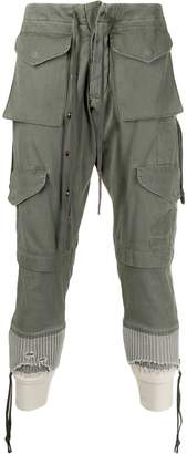 Greg Lauren Marmy Army pocket trousers