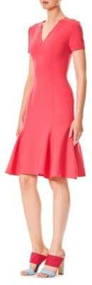 Carolina Herrera Fit-&-Flare V-Neck Dress