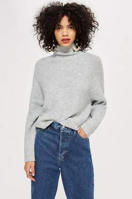 Topshop Super Soft Funnel Neck Jumper
