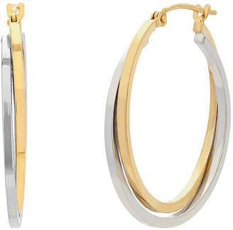 FINE JEWELRY 14K Two Tone Gold Hoop Earrings