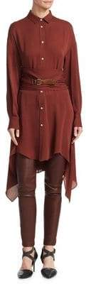 Brunello Cucinelli Belted Silk Tunic