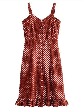 Goodnight Macaroon 'Lindsey' Polka Dot Button Front Sundress (2 Colors)
