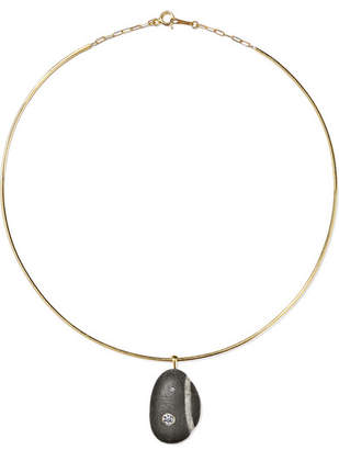 Cvc Stones Santorini 18-karat Gold, Stone And Diamond Choker