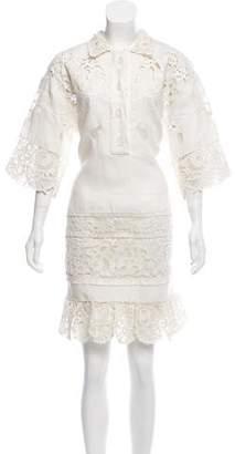 Valentino Linen Shift Dress