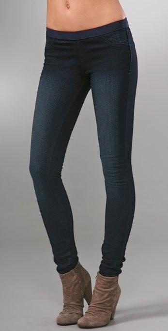 Blank Denim Pull On Legging Jeans