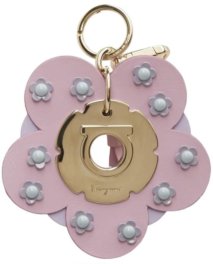 Salvatore Ferragamo flower logo keyring - Pink & Purple qWZMjj