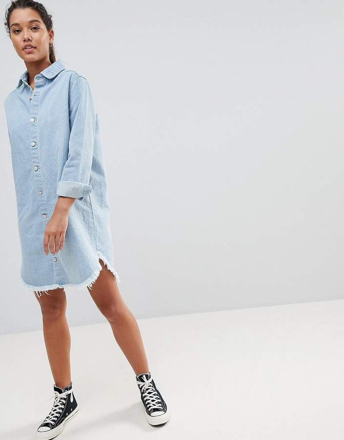 – Jeans-Hemdkleid