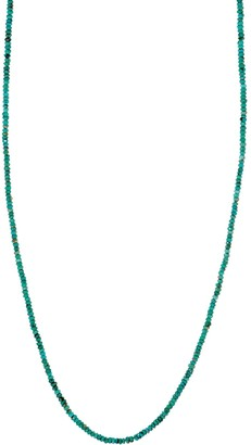 "36"" Faceted Bead Necklace, Sterling Silver"