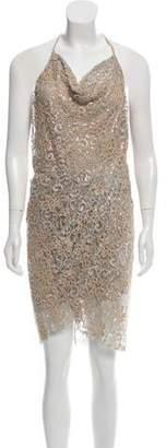 Haute Hippie Embellished Lace Dress