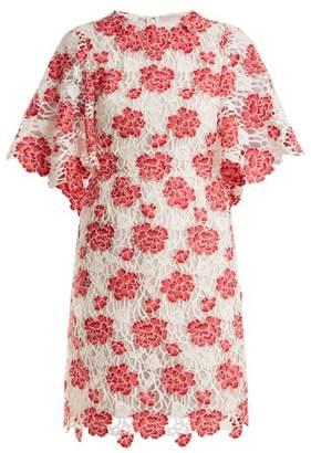 Giambattista Valli Floral Guipure Lace Dress - Womens - Pink Multi