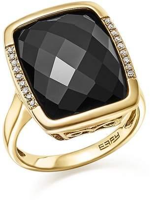 Bloomingdale's Onyx and Diamond Pavé Statement Ring in 14K Yellow Gold - 100% Exclusive