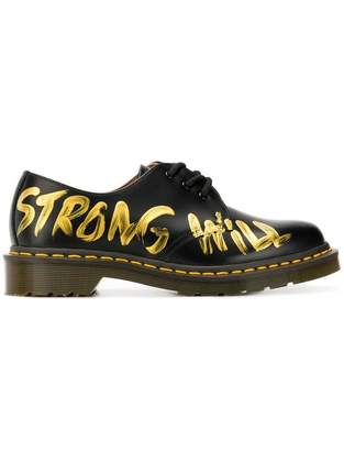Comme des Garcons Strong Will painted oxfords
