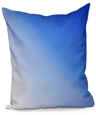 16 Inch Royal Blue Decorative Ombre Throw Pillow