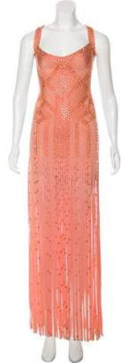 Herve Leger Vitoria Embellished Dress
