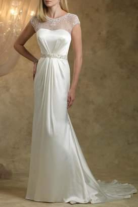 Kathy Ireland Illusion Cap Sleeves Dress