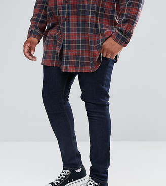 Asos Design DESIGN Plus super skinny jeans in indigo