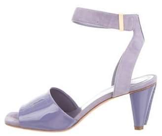 Celine Suede Ankle-Strap Sandals Suede Ankle-Strap Sandals
