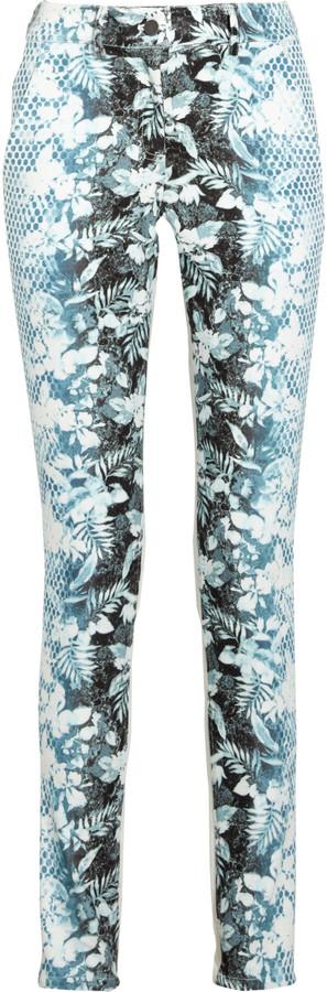 Alexander Wang Printed high-rise skinny jeans