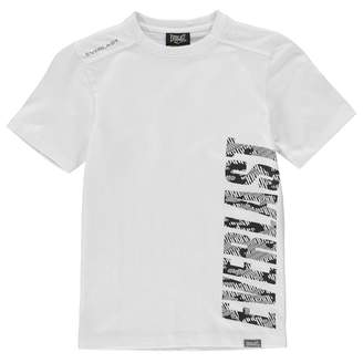 Everlast Kids T Shirt Junior Crew Neck Tee Top Short Sleeve Cotton Print