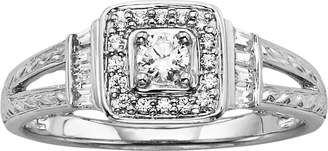 Vera Wang Simply Vera Diamond Halo Engagement Ring in 14k White Gold (1/3 ct. T.W.)
