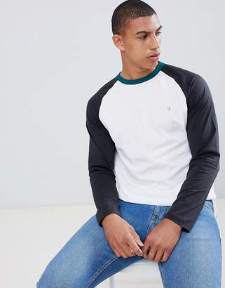Farah Renfrew raglan long sleeve t-shirt in white