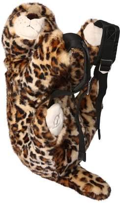 Dolce & Gabbana Leopard Shaped Plush Backpack