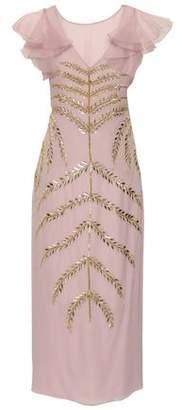 Temperley London Ruffled Embellished Georgette And Organza Midi Dress