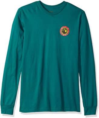 RVCA Young Men's Log Life Long Sleeve Tee Shirt, -, L