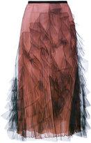 Valentino 薄纱百褶半身裙