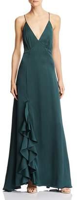 Keepsake Infinity Ruffle-Trimmed Gown