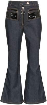 Ellery pedestrian PVC pocket flared jeans